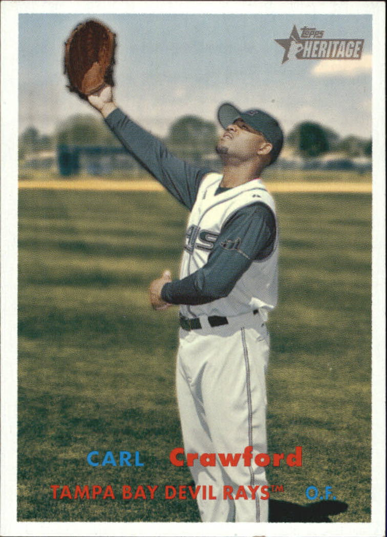 2006 Topps Heritage #319 Carl Crawford SP