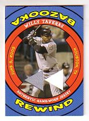 2006 Bazooka Rewind Relics #WT Willy Taveras Jsy D