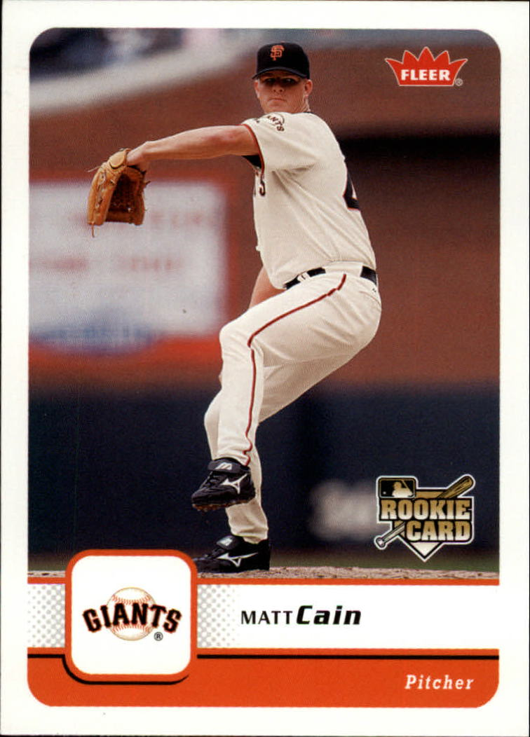 2006 Fleer #418 Matt Cain (RC)