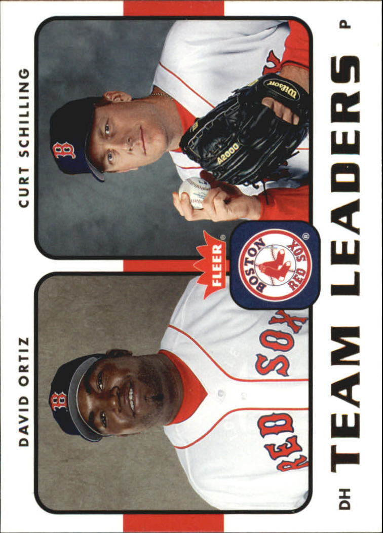 2006 Fleer Team Leaders #TL4 D.Ortiz/C.Schilling