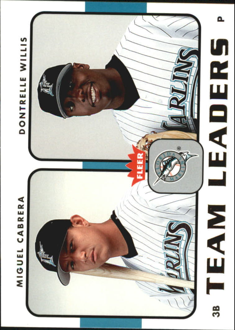 2006 Fleer Team Leaders #TL11 M.Cabrera/D.Willis