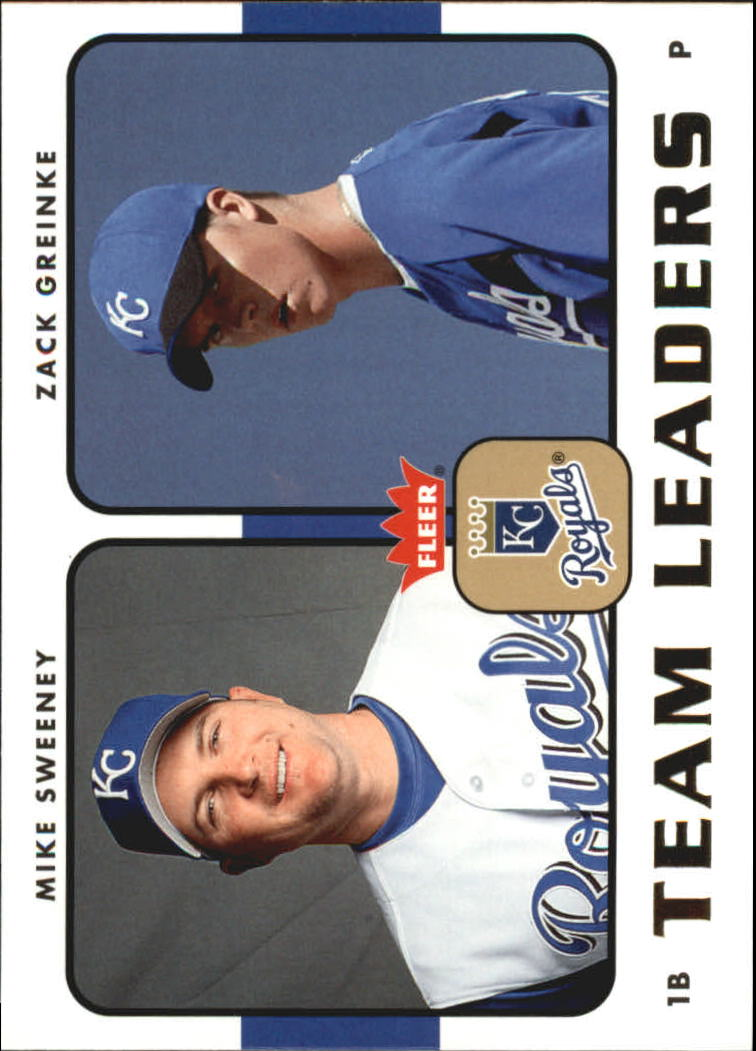 2006 Fleer Team Leaders #TL13 M.Sweeney/Z.Greinke front image