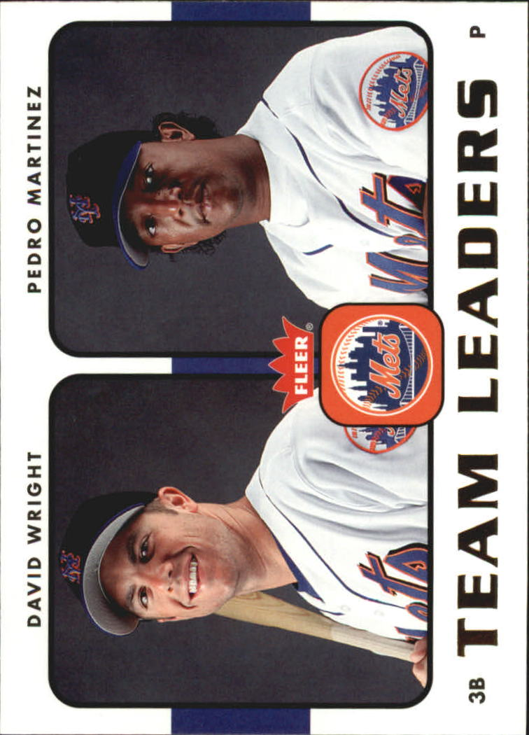 2006 Fleer Team Leaders #TL17 D.Wright/P.Martinez