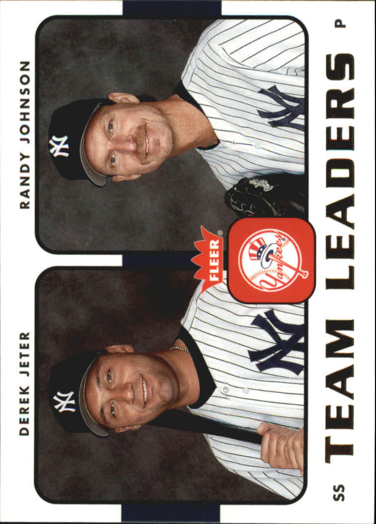 2006 Fleer Team Leaders #TL18 D.Jeter/R.Johnson