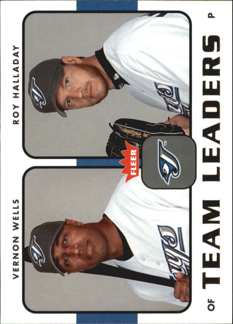 2006 Fleer Team Leaders #TL28 V.Wells/R.Halladay