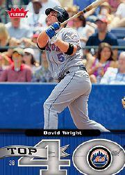 2006 Fleer Top 40 #25 David Wright