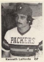 1976 Dubuque Packers TCMA #18 Kenneth LaHonta