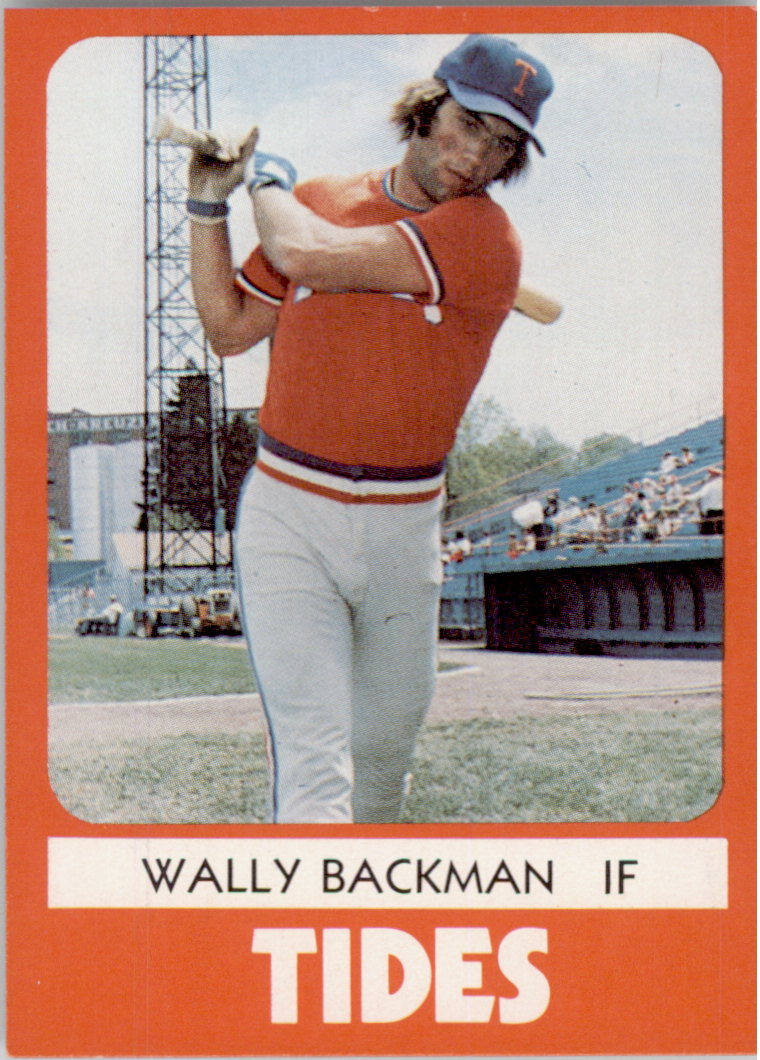 1980 Tidewater Tides TCMA #4 Wally Backman