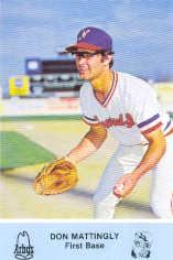 1981 Nashville Sounds Team Issue #8 Don Mattingly