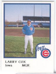 1986 Iowa Cubs ProCards #9 Larry Cox MG