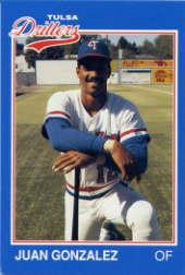 1989 Tulsa Drillers Grand Slam #10 Juan Gonzalez