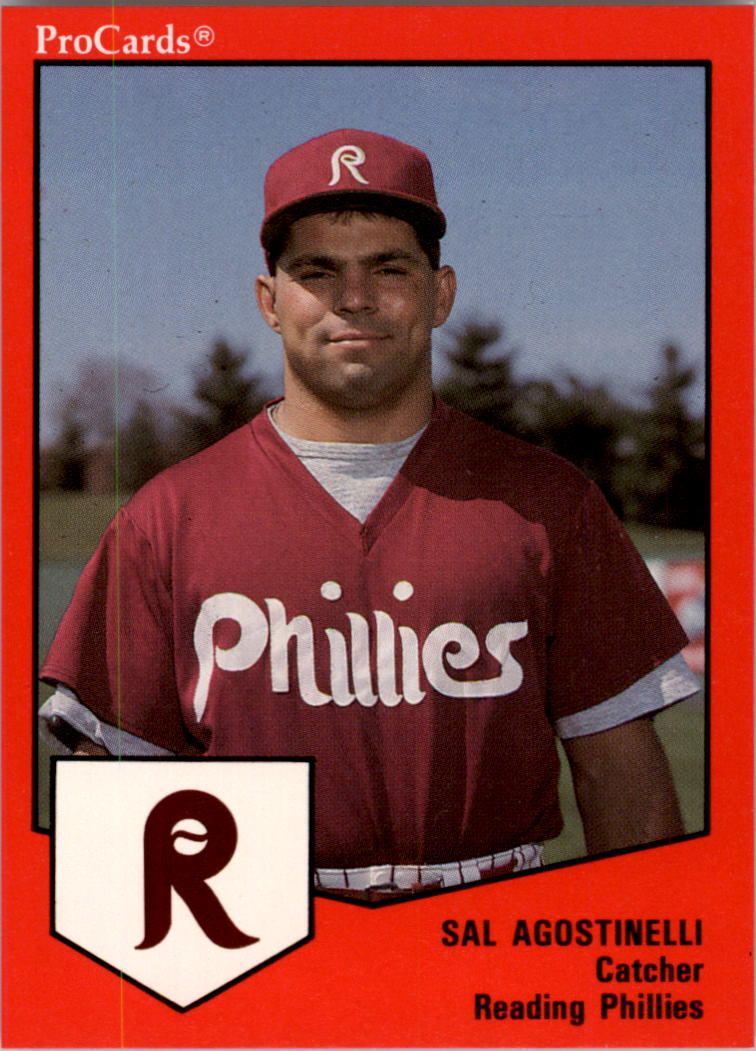 1989 Reading Phillies ProCards #654 Sal Agostinelli