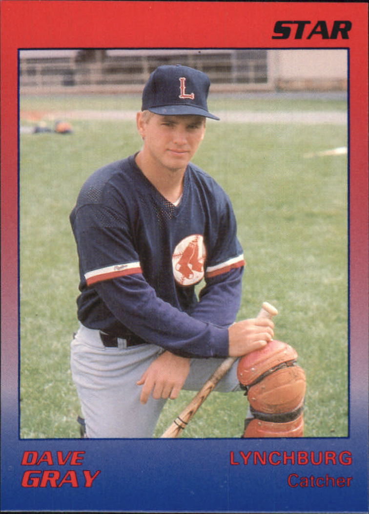 1989 Lynchburg Red Sox Star #9 Dave Gray