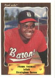 1990 Birmingham Barons ProCards #1116 Frank Thomas