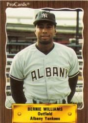 1990 Albany Yankees ProCards #1179 Bernie Williams