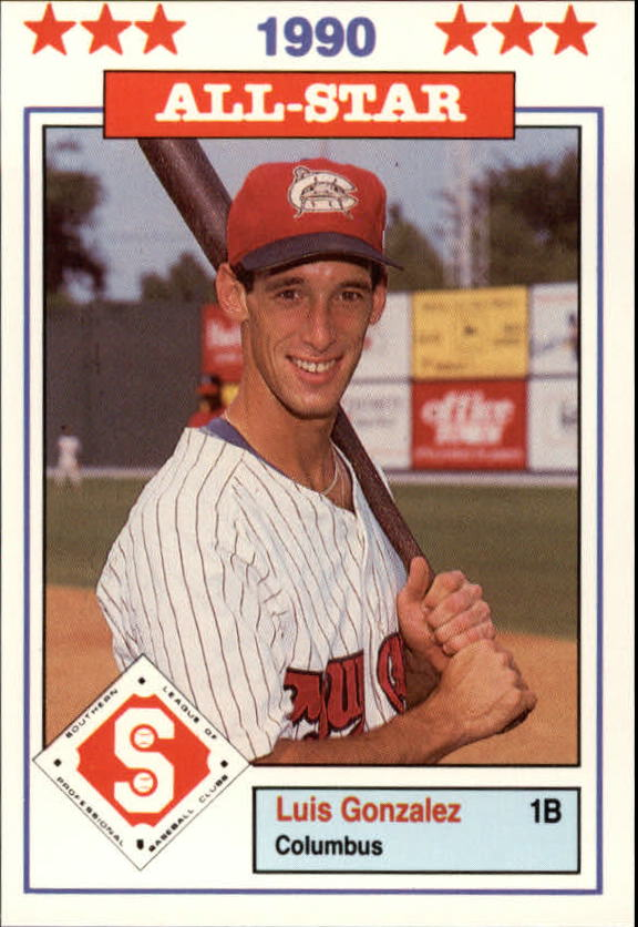 1990 Southern League All-Stars Don Jennings #29 Luis Gonzalez
