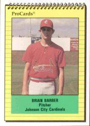 1991 Johnson City Cardinals ProCards #3969 Brian Barber