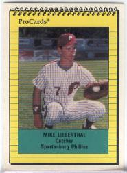 1991 Spartanburg Phillies ProCards #899 Mike Lieberthal