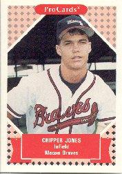 1991 Macon Braves ProCards #872 Chipper Jones