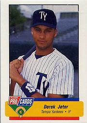 1994 Tampa Yankees Fleer/ProCards #2393 Derek Jeter
