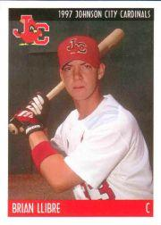 1997 Johnson City Cardinals Team Issue #22 Brian Llibre