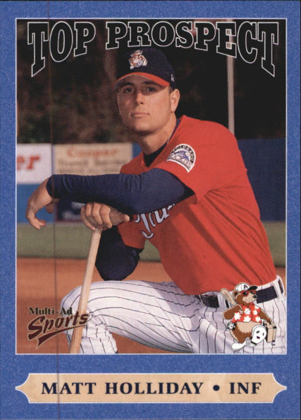 1999 South Atlantic League Top Prospects Multi-Ad #17 Matt Holliday