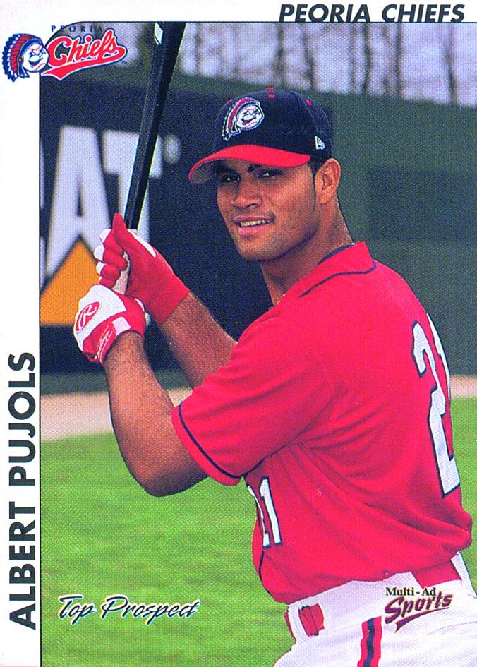 2000 Midwest League Top Prospects Multi-Ad #21 Albert Pujols
