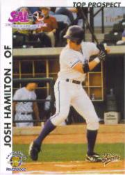 2000 South Atlantic League Top Prospect Multi-Ad #15 Josh Hamilton Jsy AU
