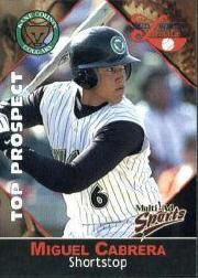 2001 Midwest League Top Prospect Multi-Ad #14 Miguel Cabrera