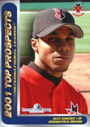 2001 International League Top Prospects Choice #23 Alex Sanchez