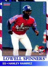 2002 Lowell Spinners Update Choice #3 Hanley Ramirez