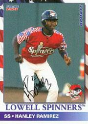 2002 Lowell Spinners Update Choice Autographs #3 Hanley Ramirez/40