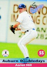 2003 Auburn Doubledays Team Issue #5 Aaron Hill