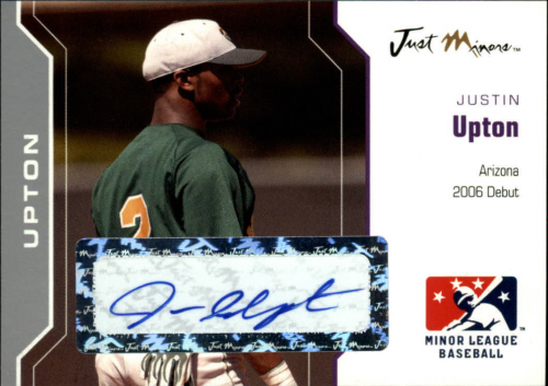 2006 Just Autographs Signatures Silver #60 Justin Upton