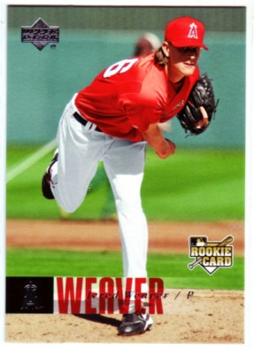 2006 Upper Deck #1000 Jered Weaver (RC) front image