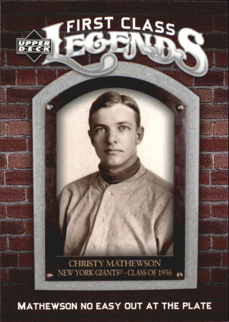 2006 Upper Deck First Class Legends #FCL66 Christy Mathewson