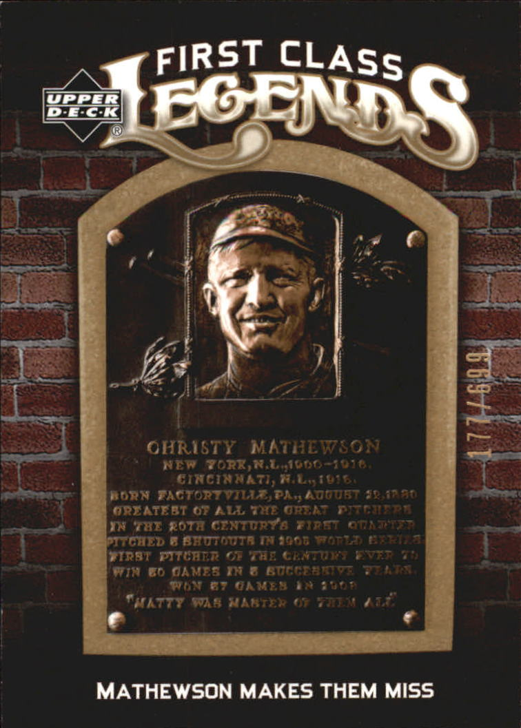 2006 Upper Deck First Class Legends #FCL80 Christy Mathewson