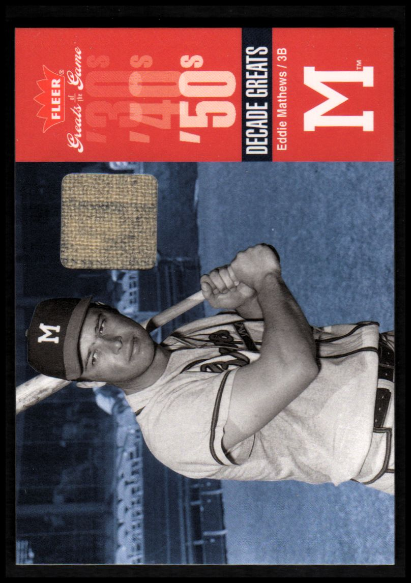 2006 Greats of the Game Decade Greats Memorabilia #EM Eddie Mathews Pants