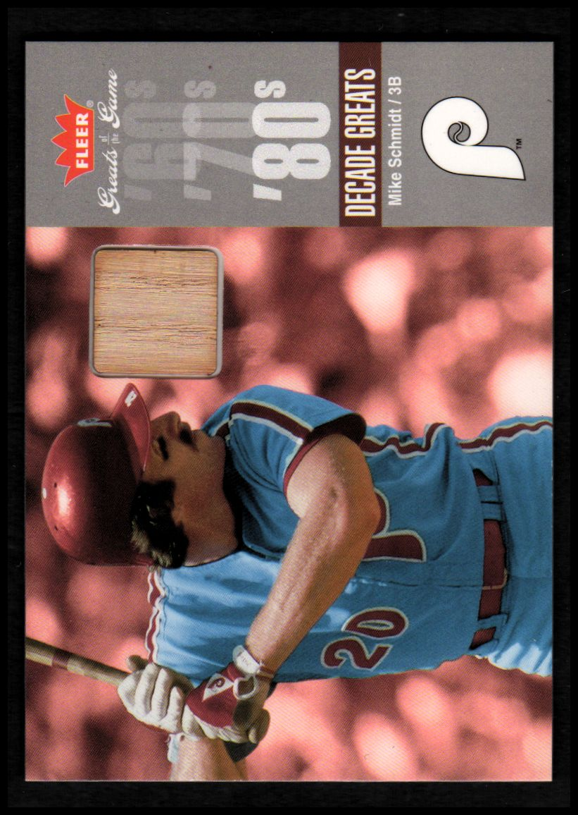 2006 Greats of the Game Decade Greats Memorabilia #MS Mike Schmidt Bat