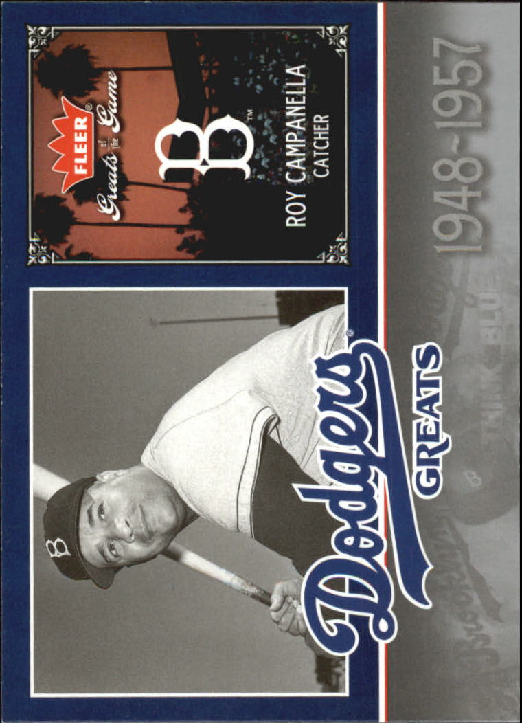 2006 Greats of the Game Dodger Greats #CA Roy Campanella