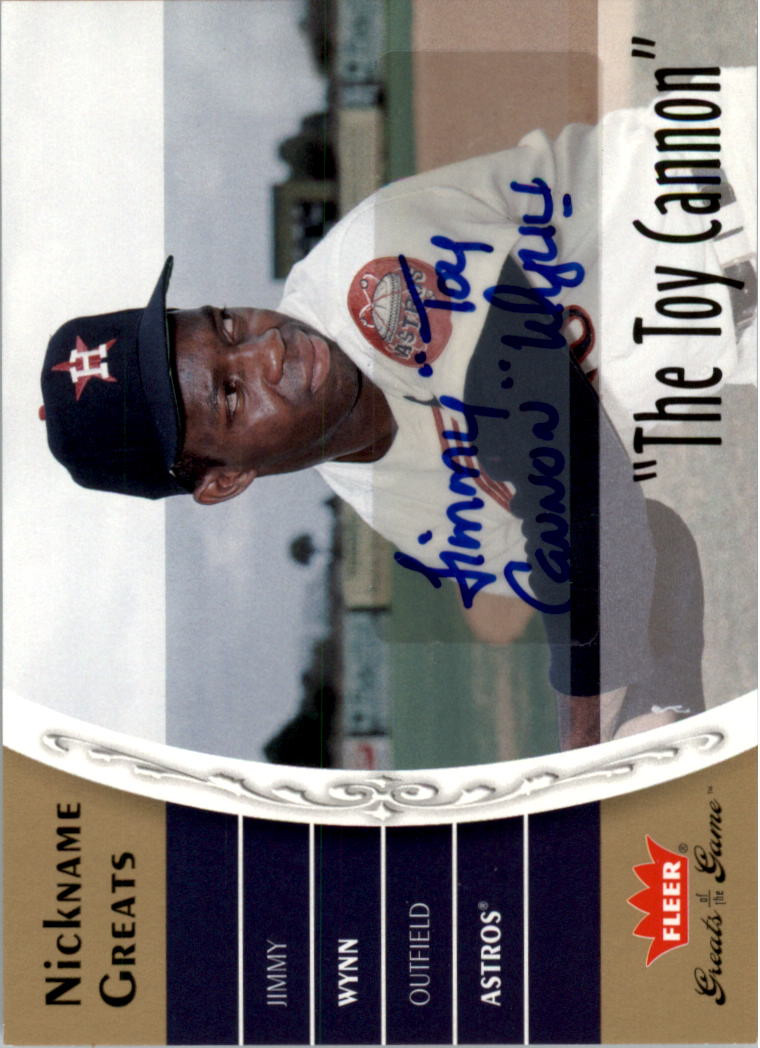 2006 Greats of the Game Nickname Greats Autographs #JW Jimmy Wynn Toy Cannon T5