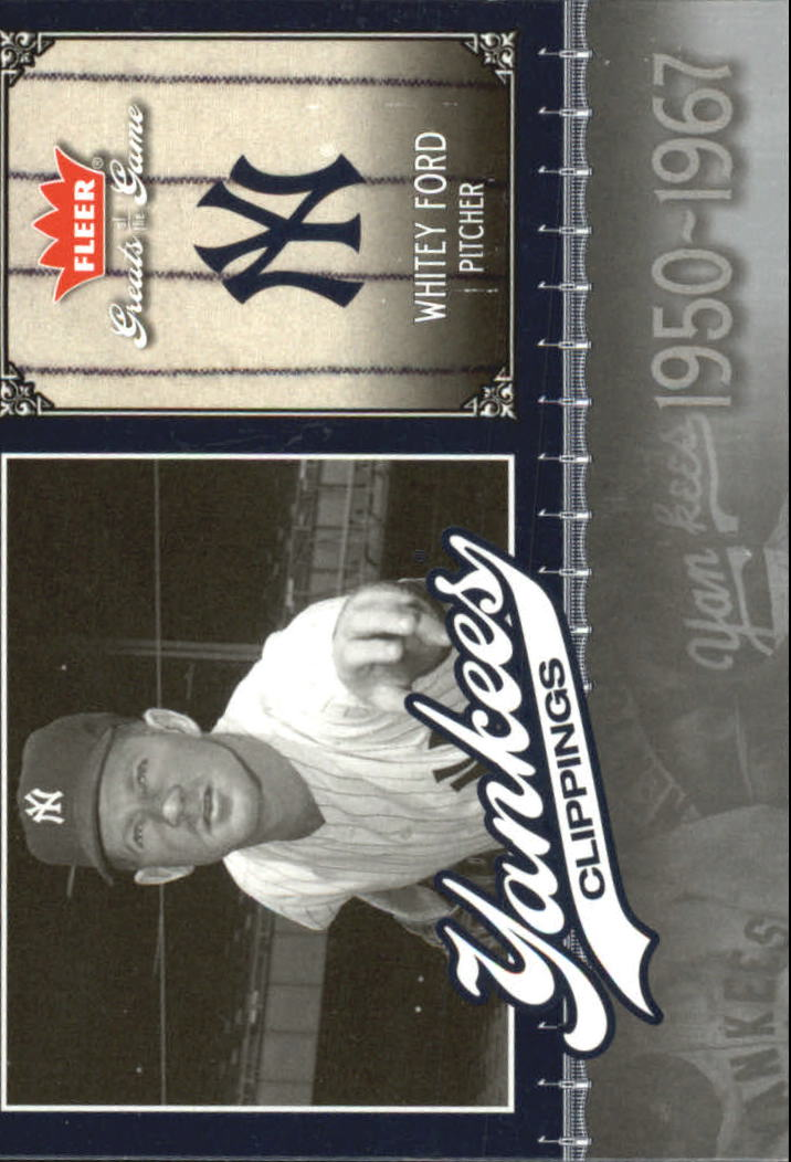 2006 Greats of the Game Yankee Clippings #WF Whitey Ford