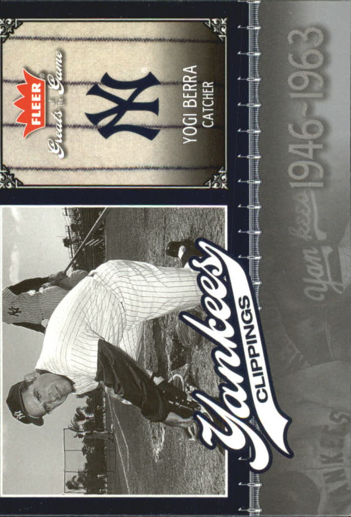 2006 Greats of the Game Yankee Clippings #YB Yogi Berra