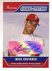 2006 Bowman Signs of the Future #MC Mike Costanzo D