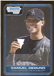 2006 Bowman Chrome Prospects #BC36 Samuel Deduno