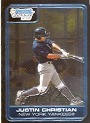 2006 Bowman Chrome Prospects #BC186 Justin Christian