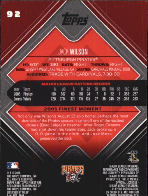 2006-Finest-Baseball-Base-Singles-Pick-Your-Cards