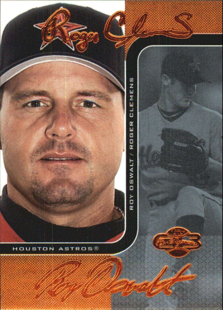 2006 Topps Co-Signers Changing Faces Blue #2B Roger Clemens/Roy Oswalt