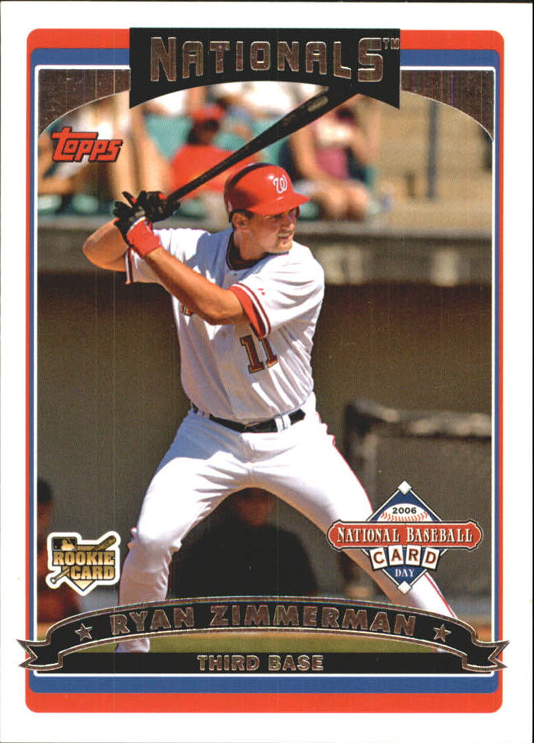 2006 Topps National Baseball Card Day Inserts #T3 Ryan Zimmerman