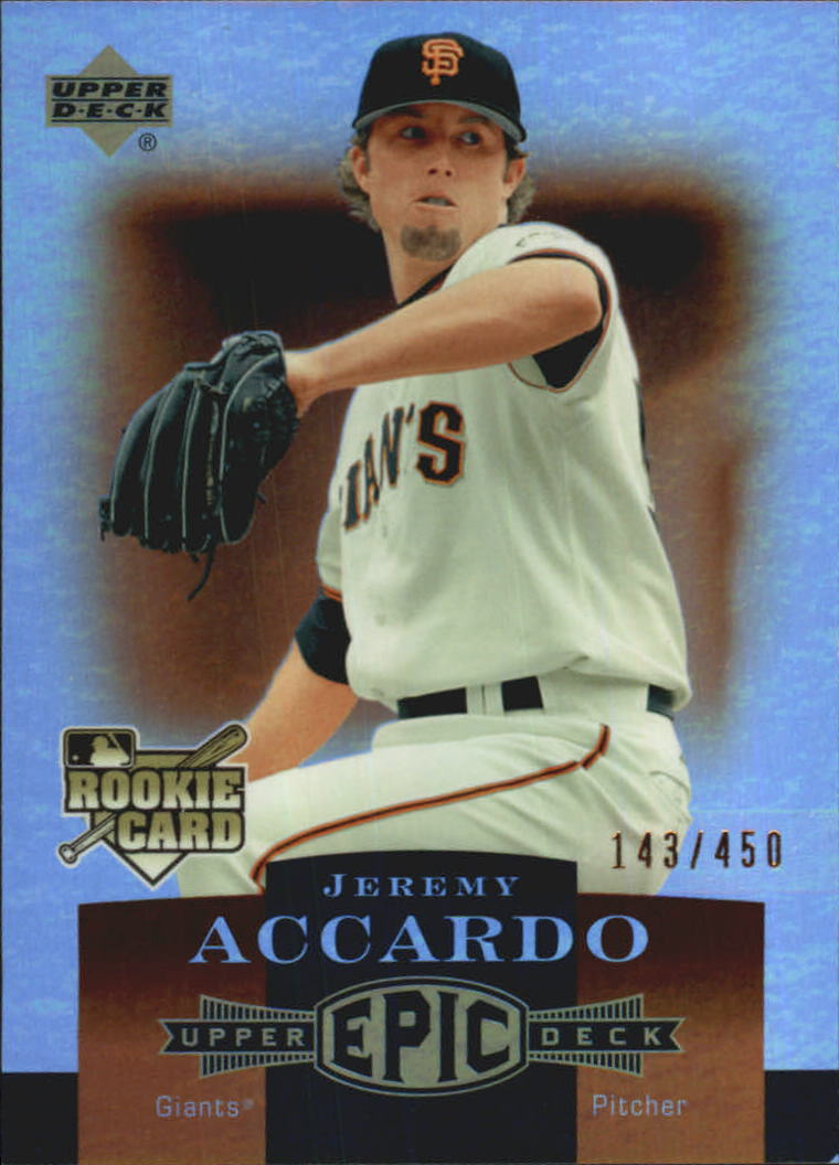 2006 Upper Deck Epic #287 Jeremy Accardo RC